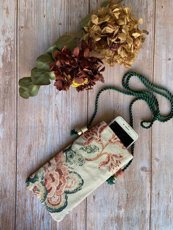bandolera móvil con tela